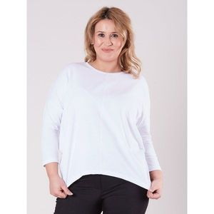 White PLUS SIZE asymmetrical blouse obraz