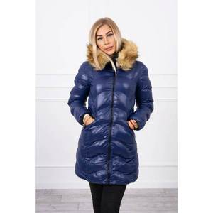 Quilted jacket navy blue obraz