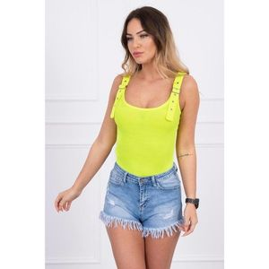 Body blouse with fastened shoulder straps yellow neon obraz