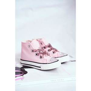 Children's Sneakers High Pink Smile obraz