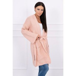 Sweater with a long slit on the sides powdered pink obraz