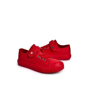 Children's Leather Sneakers BIG STAR EE374036 Red obraz