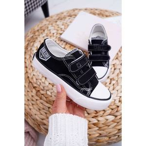 Children's Shoes Sneakers Big Star With Velcro Black FF374062 obraz