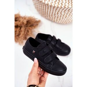 Children's Shoes Sneakers Big Star With Velcro Black GG374009 obraz
