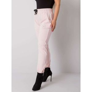 Light pink plus size sweatpants obraz