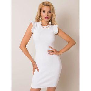 RUE PARIS White striped dress obraz