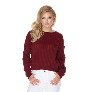 Bordový pulovr 70022 obraz