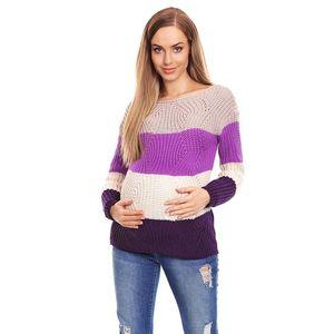 Fialový těhotenský pulovr 70019 obraz