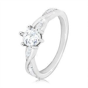 Prsten ze stříbra 925, zirkonové vlnky - Velikost: 60 obraz