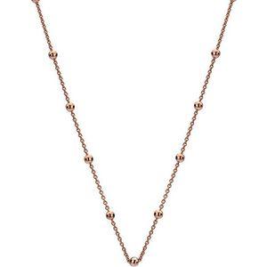 Hot Diamonds Stříbrný řetízek Emozioni Rose Gold Cable with Ball CH005 obraz