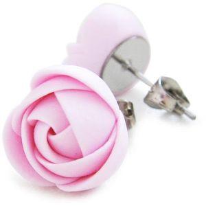 Troli Růžové náušnice puzetky menší kytičky obraz