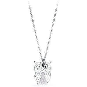 S`Agapõ Stříbrný náhrdelník Sova Gaia SGA04 obraz