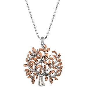 Hot Diamonds Luxusní stříbrný náhrdelník se stromem života Jasmine DP701 (řetízek, přívěsek) obraz