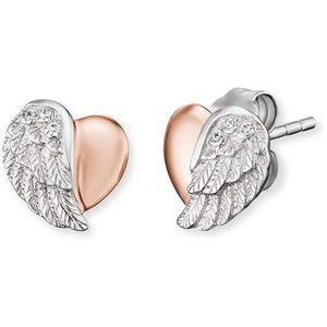 Engelsrufer Stříbrné náušnice Srdce s andělským křídlem a zirkony ERE-LILHEARTWBI obraz