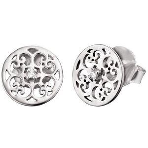 Engelsrufer Stříbrné náušnice s ornamentem a zirkony ERE-ORNA-ZI-ST obraz