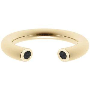 Gravelli Otevřený prsten s betonem Open zlatá/antracitová GJRWYGA107 50 mm obraz