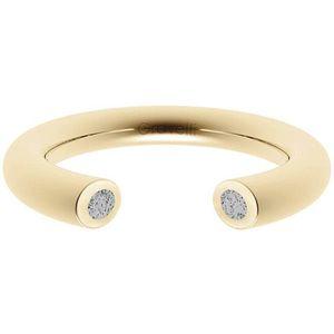Gravelli Otevřený prsten s betonem Open zlatá/šedá GJRWYGG107 50 mm obraz