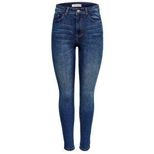 Jacqueline de Yong Dámské skinny džíny JDYJONA 15171475 Medium Blue Denim 31/32 obraz