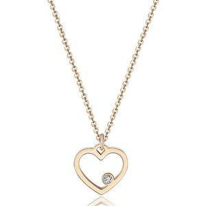 S`Agapõ Romantický náhrdelník s přívěskem srdce Pretty SPE03 (řetízek, přívěsek) obraz
