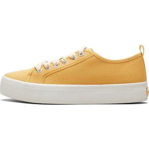 Pohodlné žluté textilní tenisky obraz
