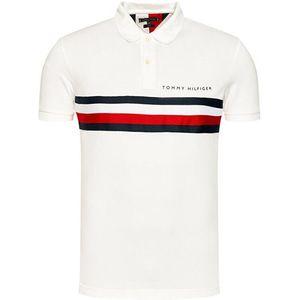 Tommy Hilfiger bílé pánské polo tričko - S obraz