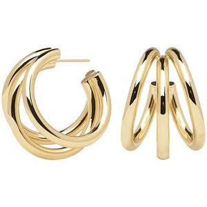 PDPAOLA Luxusní pozlacené náušnice kruhy TRUE Gold AR01-066-U obraz