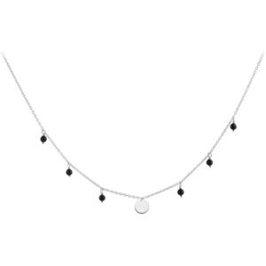 JVD Stříbrný náhrdelník s onyxy SVLN0180SH2ON45 obraz