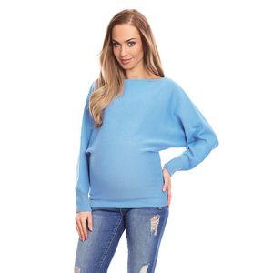 Modrý těhotenský pulovr 70003C obraz
