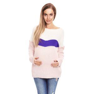 Růžovo-fialový těhotenský pulovr 40023 obraz