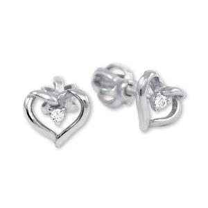 Brilio Zlaté náušnice srdce s krystalem 236 001 00914 07 obraz