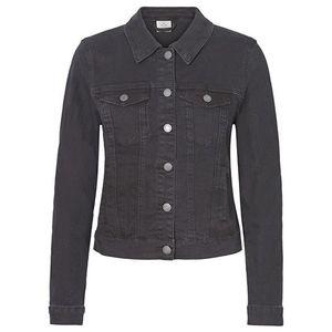 Vero Moda Dámská džínová bunda VMHOT SOYA 10193085 Black S obraz