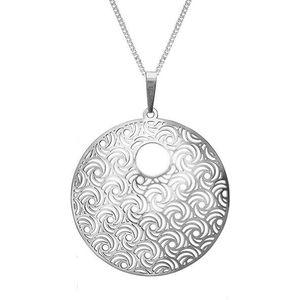 Praqia Stříbrný náhrdelník Whirling KO1277V_CU050_45_RH (řetízek, přívěsek) obraz