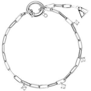 PDPAOLA Jemný stříbrný náramek s třpytivými zirkony GINA Silver PU02-043-U obraz