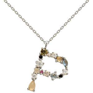 """PDPAOLA Stříbrný náhrdelník písmeno """"P"""" se zirkony CO02-111-U (řetízek, přívěsek) obraz"""