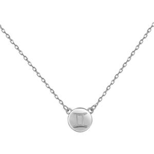 JVD Stříbrný náhrdelník s přívěskem Blíženci SVLN0165XF300BL obraz