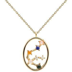 PDPAOLA Originální pozlacený náhrdelník Vodnář AQUARIUS CO01-342-U (řetízek, přívěsek) obraz