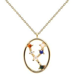 PDPAOLA Originální pozlacený náhrdelník Býk TAURUS CO01-345-U (řetízek, přívěsek) obraz