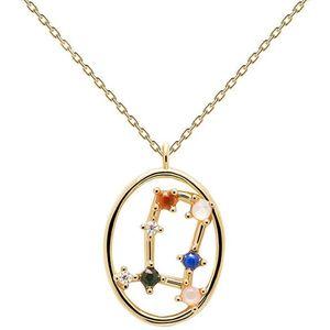 PDPAOLA Originální pozlacený náhrdelník Blíženci GEMINI CO01-346-U (řetízek, přívěsek) obraz