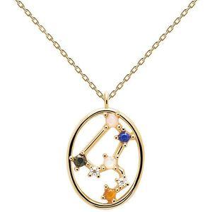 PDPAOLA Originální pozlacený náhrdelník Lev LEO CO01-348-U (řetízek, přívěsek) obraz