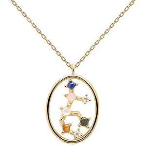 PDPAOLA Originální pozlacený náhrdelník Panna VIRGO CO01-349-U (řetízek, přívěsek) obraz