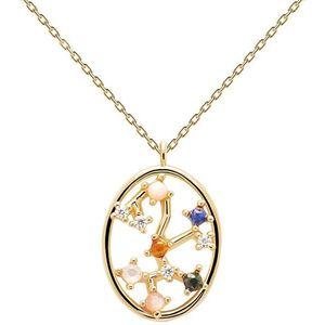 PDPAOLA Originální pozlacený náhrdelník Střelec SAGITARIUS CO01-352-U (řetízek, přívěsek) obraz