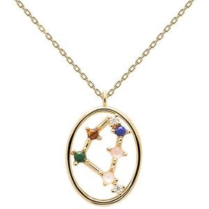 PDPAOLA Originální pozlacený náhrdelník Kozoroh CAPRICORN CO01-353-U (řetízek, přívěsek) obraz