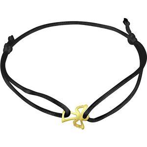 Brilio Černý kabala náramek se zlatým andělíčkem KA7010 obraz