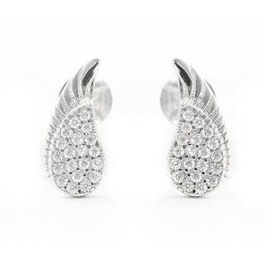 Beneto Něžné stříbrné náušnice s čirými zirkony Andělská křídla AGUP2092 obraz