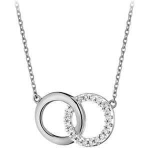 JVD Módní stříbrný náhrdelník SVLN0380SH2BI45 obraz