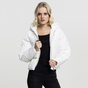 Urban Classics Ladies Hooded Oversized Puffer Jacket offwhite obraz