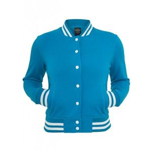 Urban Classics Ladies College Sweatjacket turquoise obraz