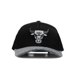 Mitchell & Ness snapback Chicago Bulls black Greytone Fleece 110 Snapback obraz