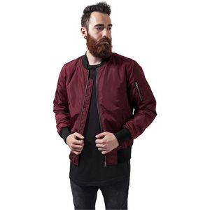 Urban Classics 2-Tone Bomber Jacket burgundy/black obraz