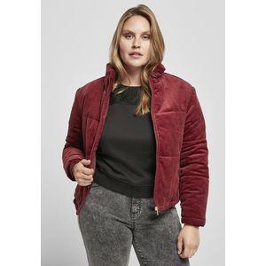 Urban Classics Ladies Corduroy Puffer Jacket burgundy obraz